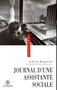 Colette Duquesne - Journal d'une assistante sociale.