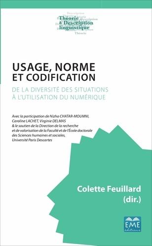 Colette Feuillard - Usage, norme et codification - De la diversité des situations à l'utilisation du numérique.