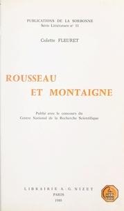 Colette Fleuret - Rousseau et Montaigne.