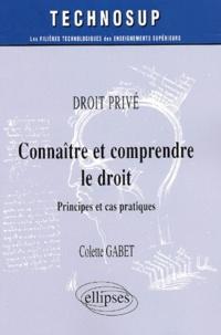 Connaître et comprendre le droit. Principes et cas pratiques - Colette Gabet   Showmesound.org