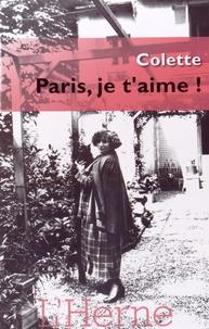 Colette - Paris, je t'aime !.