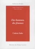 Colette Soler - Des hommes, des femmes - Cours 2017-2018.