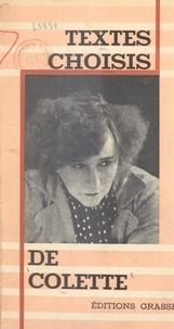 Colette et Pierre Clarac - Textes choisis de Colette.