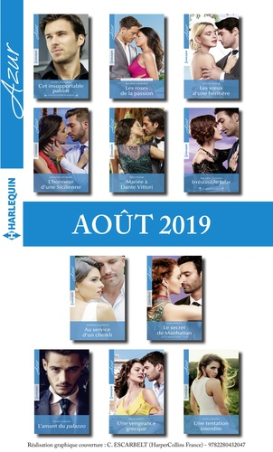 11 romans Azur + 1 gratuit (n°4114 à 4124 - Août 2019)