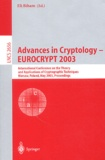 Collectif - Advances in Cryptology - Eurocrypt 2003.