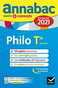 Collectif - Annales du bac Annabac 2021 Philosophie Tle générale - sujets & corrigés nouveau bac.