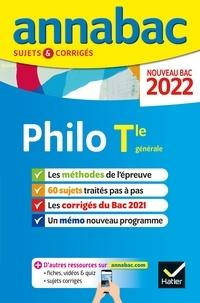 Collectif - Annales du bac Annabac 2022 Philosophie Tle générale - méthodes & sujets corrigés nouveau bac.