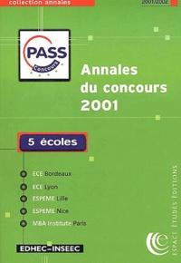 Annales du concours PASS 2001. Sujets et corrigés.pdf
