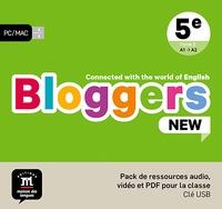 Collectif - Bloggers NEW 5e - pack de ressource audio, vidéo et PDF pour la classe.