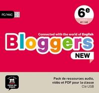 Collectif - Bloggers NEW 6e - pack de ressource audio, vidéo et PDF pour la classe.