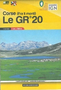 Collectif - Carte en poche Corse : le GR20.