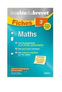 Collectif - Clés du brevet fiches maths 3e.