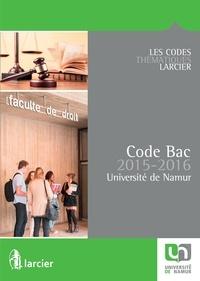 Collectif - Code Bac pour l'Université de Namur – 2015 - 2016.