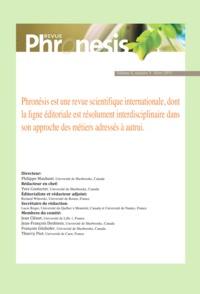 Collectif Collectif - Phronesis. Vol. 4, numéro 3 | 2015.