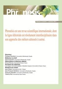 Collectif Collectif - Phronesis. Vol. 4, numéro 2 | 2015.