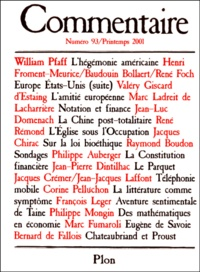 Collectif - Commentaire N° 93 Printemps 2001.