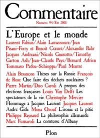 Commentaire N° 94 Eté 2001 : LEurope et le monde.pdf