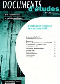 Collectif - Constitution française du 4 octobre 1958.