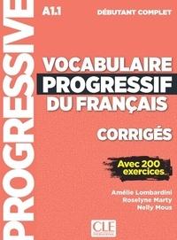 Accentsonline.fr Corrigés vocabulaire progressif niveau débutant complet Image
