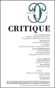 Collectif - Critique N° 671 Avril 2003.