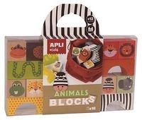 Collectif - Cube bois animaux 16 pièces.