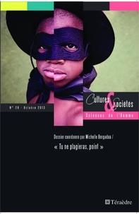 Collectif - Cultures & Sociétés N° 28 : Tu ne plagieras, point.