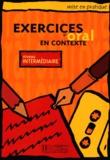 Collectif d'auteurs - Exercices d'oral en contexte - Niveau intermédiaire.
