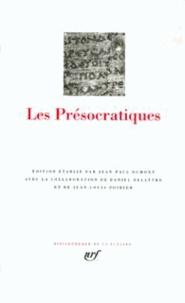 Collectif d'auteurs - Les Présocratiques.