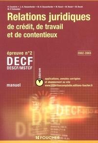 DECF n° 2 Relations juridiques de crédit, de travail et de contentieux. Manuel avec CD-ROM.pdf