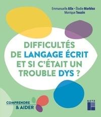 Téléchargements de livres pour ipod Difficultés de langage écrit... et si c'était un trouble dys ? 9782725635781 (French Edition) MOBI PDB par
