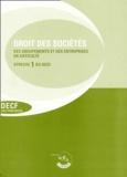 Collectif - Droit des sociétés Enoncé - Epreuve 1 du DECF, cas pratiques 12ème édition 2002/2003.
