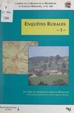 Collectif et  MRSH-Caen - Enquêtes rurales (1). 1996. Pôle Sociétés et espaces ruraux.