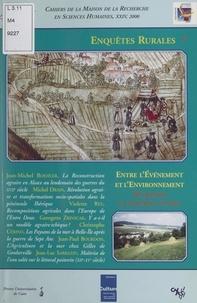 Collectif et  Pôle Sociétés et espaces rurau - Enquêtes rurales (7). Entre l'événement et l'environnement, des paysans en situations extrêmes.