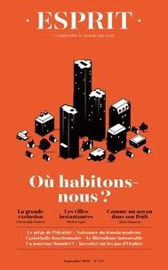 Collectif - ESPRIT - HABITER LA SOCIÉTÉ - Septembre 2021.