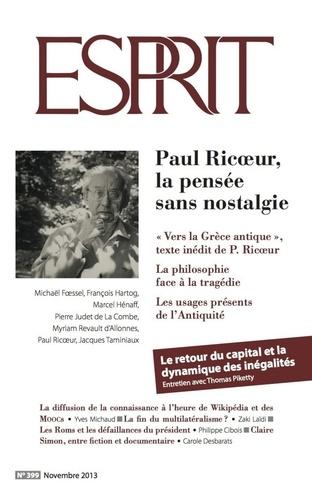 Esprit novembre 2013 - Paul Ricoeur, la pensée sans nostalgie