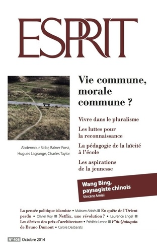 Esprit octobre 2014 - Vie commune, morale commune ?