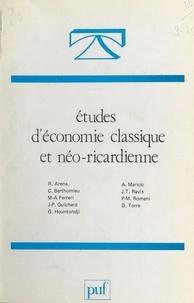 Collectif et  Groupe de recherches sur l'évo - Études d'économie classique et néo-ricardienne.