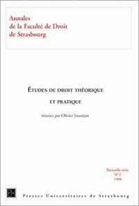 Collectif et Olivier Jouanjan - Etudes de droit théorique et pratique.