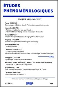 Goodtastepolice.fr Etudes phénoménologiques N°31-32/2000 : Maurice Merleau-Ponty Image
