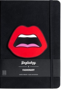 Collectif - Fashionary x Yazbukey c est ahh red ruled a5 notebook.
