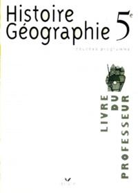 Galabria.be HISTOIRE GEOGRAPHIE 5EME. Livre du professeur, Programme 1997 Image