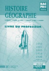HISTOIRE-GEOGRAPHIE TERMINALE BAC PRO.- Livre du professeur -  pdf epub