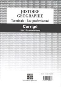 Galabria.be Histoire Géographie Terminale Bac professionnel. - Corrigé réservé au professeur Image