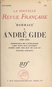 Collectif et Laure Albin-Guillot - Hommage à André Gide, 1869-1951.