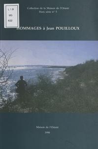 Collectif - Hommages à Jean Pouilloux.