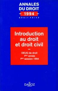 Accentsonline.fr INTRODUCTION AU DROIT ET DROIT CIVIL Image