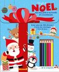 Collectif - Joyeux Noël - Avec plus de 250 stickers ! - 2 livres de coloriage - 1 livre de jeux... et 6 crayons.