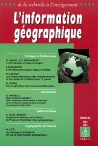 Collectif - L'information géographique Volume 66 Mars 2002.