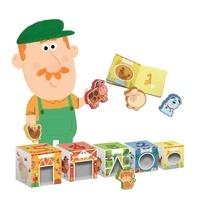 Collectif - La ferme - Livre et cubes de construction.