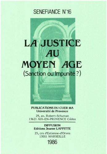 Collectif - La justice au moyen age.